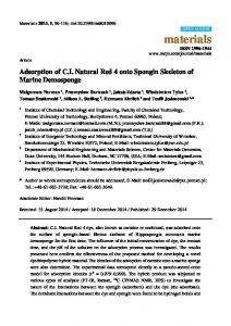 Adsorption of CI Natural Red 4 onto Spongin ... - Semantic Scholar