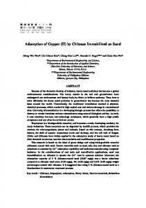 Adsorption of Copper (II) by Chitosan Immobilized on Sand - CiteSeerX