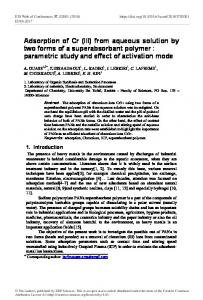 Adsorption of Cr (III) from aqueous solution by two forms of a ...
