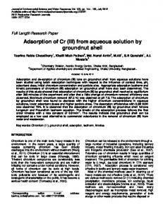 Adsorption of Cr (III) from aqueous solution by