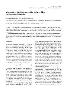 Adsorption of gas mixtures on solid surfaces, theory ... - Springer Link