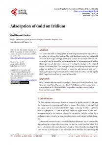 Adsorption of Gold on Iridium