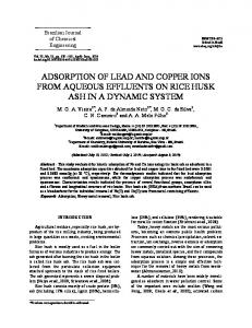 adsorption of lead and copper ions from aqueous effluents ... - SciELO