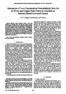 Adsorption of Low-Concentration Formaldehyde from Air by Silver and ...