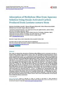 Adsorption of Methylene Blue from Aqueous Solution using Steam ...