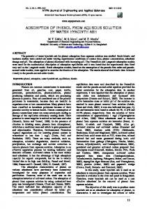 Adsorption of phenol from aqueous solution by ... - Semantic Scholar