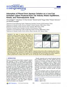 Adsorption of Phenol from Aqueous Solution on a Low-Cost Activated ...