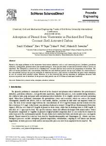 Adsorption of Phenol from Wastewater in Fluidized ... - ScienceDirect