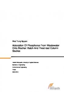 Adsorption Of Phosphorus From Wastewater Onto ...