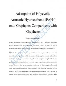 Adsorption of Polycyclic Aromatic Hydrocarbons