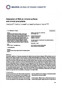 Adsorption of RNA on mineral surfaces and mineral ... - Beilstein Journal