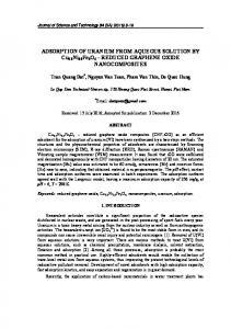 ADSORPTION OF URANIUM FROM AQUEOUS SOLUTION BY Cu0 ...