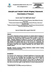 Adsorptive and Catalytic Cathodic Stripping Voltammetric
