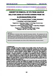 adsorptive removal of dye from aqueous solution using activated ... - ijrpc