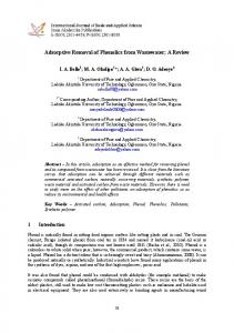 Adsorptive Removal of Phenolics from Wastewater - International ...