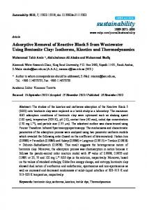 Adsorptive Removal of Reactive Black 5 from Wastewater ... - MDPI