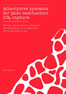 Adsorptive systems for post-combustion CO2 capture - CO2 - CATO
