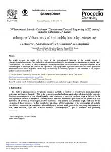 Adsorptive Voltammetry of 4 ... - Science Direct