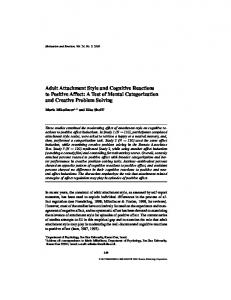 Adult Attachment Style and Cognitive Reactions to ... - Springer Link