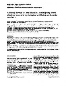 Adult day service use and reductions in ... - Wiley Online Library