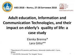 Adult education, Information and Communication