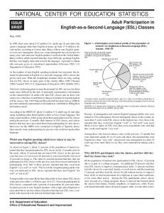 Adult Participation in English-as-a-Second-Language (ESL) Classes