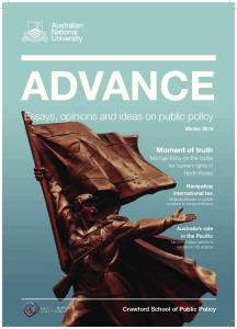 Advance - Crawford School of Public Policy - ANU