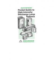 Advance HID Pocket Troubleshooting Guide