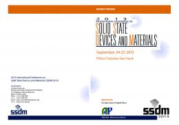 Advance Program - International Conference on Solid State Devices ...