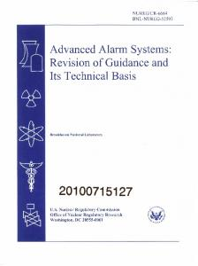 Advanced Alarm Systems - Defense Technical Information Center