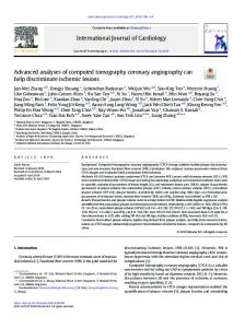 Advanced analyses of computed tomography coronary angiography ...
