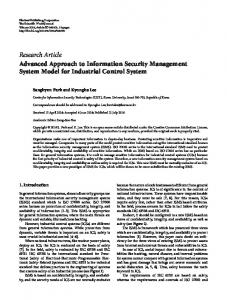 Advanced Approach to Information Security Management System ...