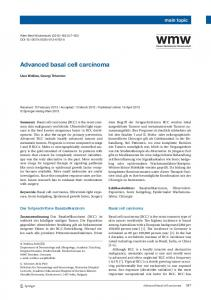 Advanced basal cell carcinoma | SpringerLink