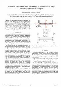 Advanced Characterization and Design of ... - IEEE Xplore