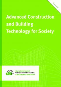 Advanced Construction and Building Technology for Society
