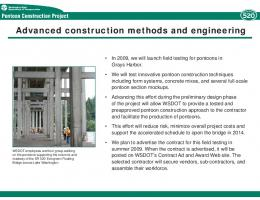 Advanced construction methods and engineering