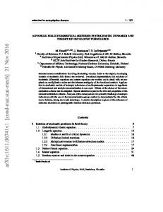 Advanced field-theoretical methods in stochastic dynamics and theory ...