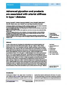 Advanced glycation end products are associated with arterial stiffness ...