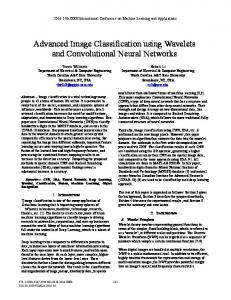 Advanced Image Classification using Wavelets and Convolutional ...