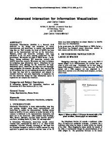 Advanced Interaction for Information Visualization