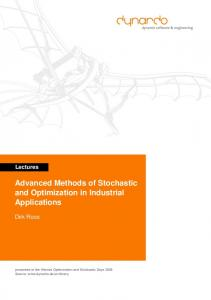 Advanced Methods of Stochastic and Optimization ... - Semantic Scholar