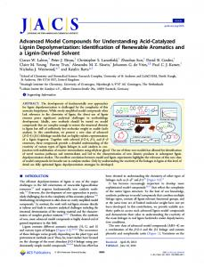 Advanced model compounds for understanding acid catalyzed lignin ...