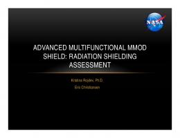 advanced multifunctional mmod shield: radiation shielding assessment