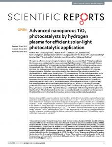 Advanced nanoporous TiO2 photocatalysts by ... - CyberLeninka