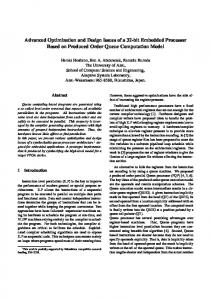 Advanced Optimization and Design Issues of a 32 ... - Semantic Scholar