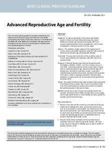 advanced reproductive age and fertility