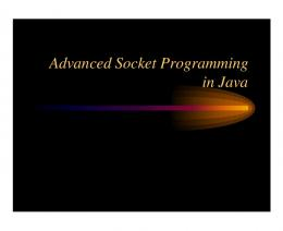 Advanced Socket Programming in Java