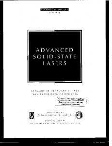 advanced solid-state lasers