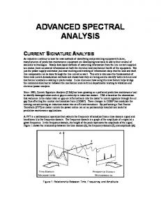 ADVANCED SPECTRAL ANALYSIS - PdMA