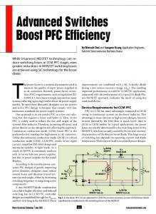 Advanced Switches Boost PFC Efficiency - CiteSeerX